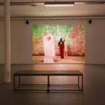 Derek Jarman installation view of The Last of England at Void Gallery 2019, In the Shadow of the Sun film still