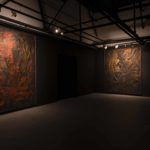 Derek Jarman, The Last of England exhibition at Void Gallery 2019, installation view of the GBH paintings