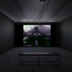 Derek Jarman, installation view of The Last of England exhibition at Void Gallery, 2019, film still from The Last of England film, featuring a young man looking towards the camera