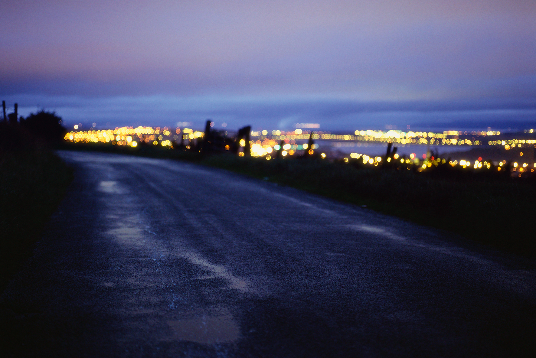 The Road Ahead, title of photography by Derry artist Willie Doherty, featured as part of group exhibition Opened Ground at Void Gallery, 2019