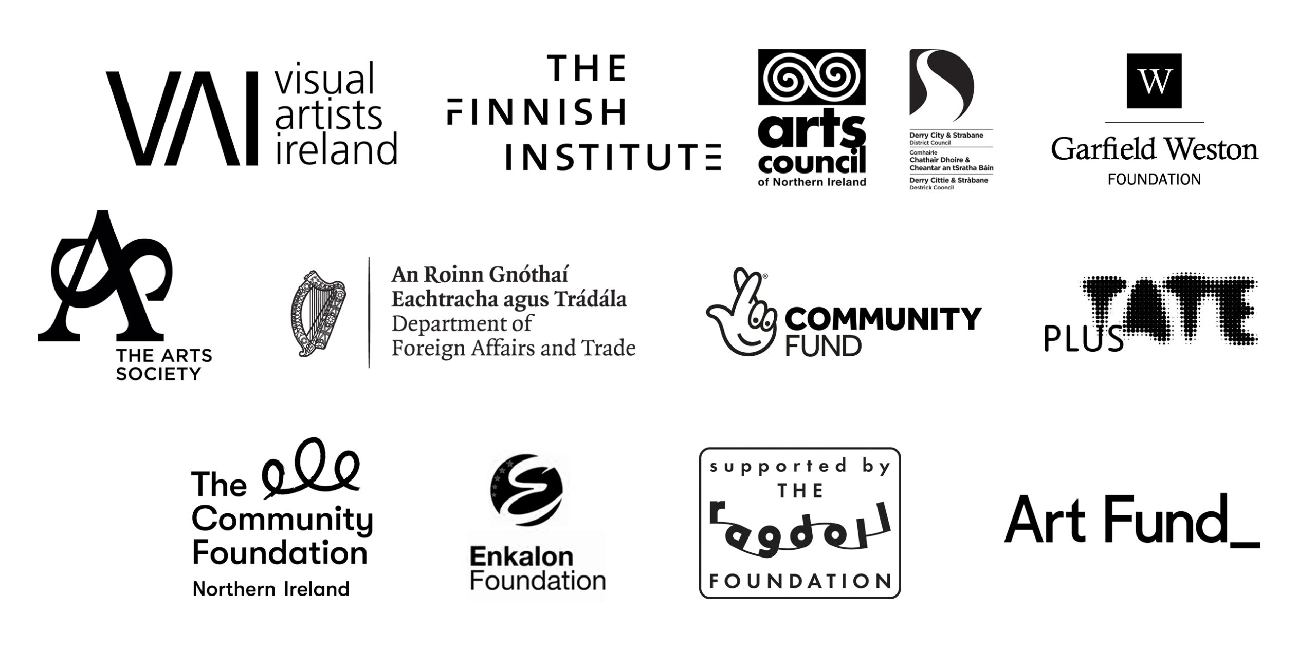 Curatorial ethics conference funder logos