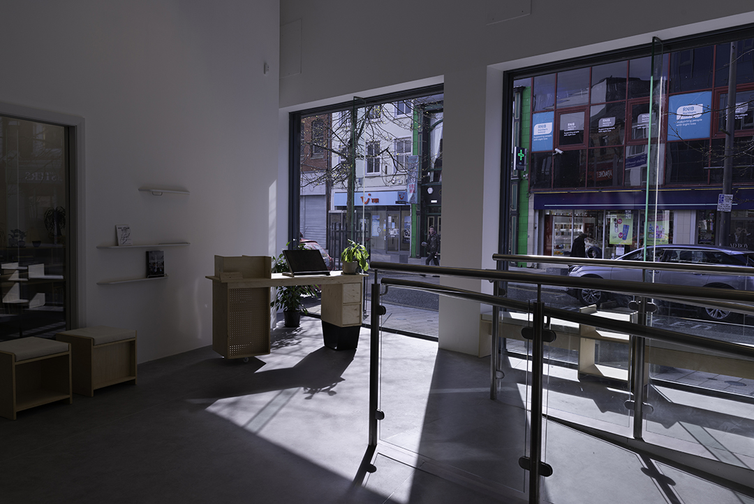 Interior view of Void Gallery space, reception area
