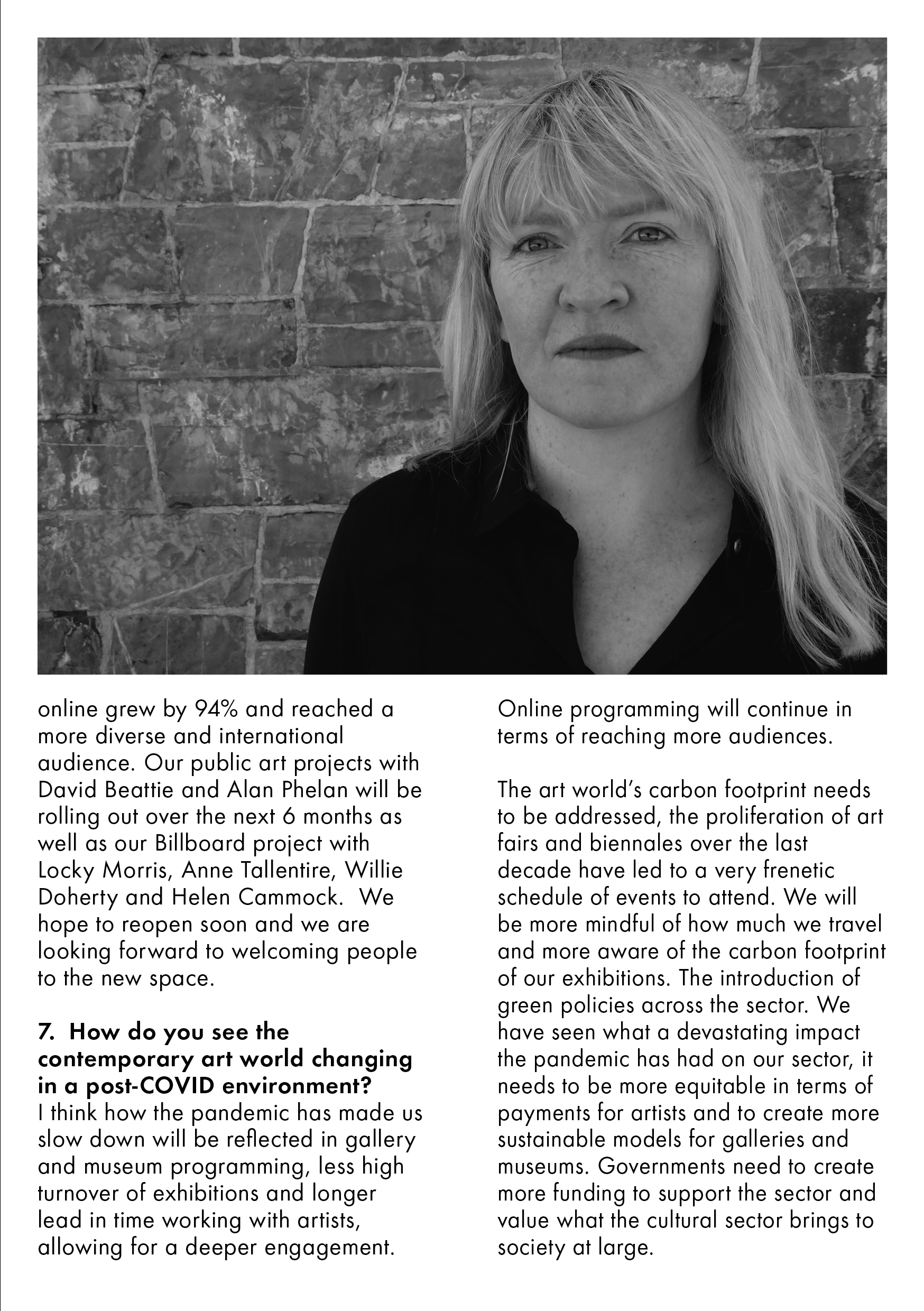 QandA with Mary Cremin, Director of Void Gallery