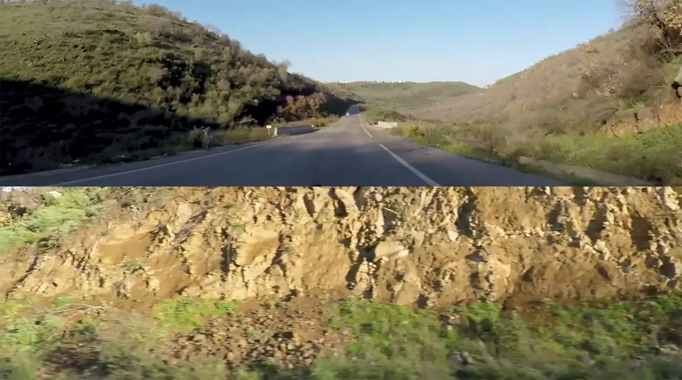 Sirine Fattouh & Stéphanie Dardour From Syria to Palestine: El Autostrad', Video Installation in collaboration with Stéphanie Dadour, 2017