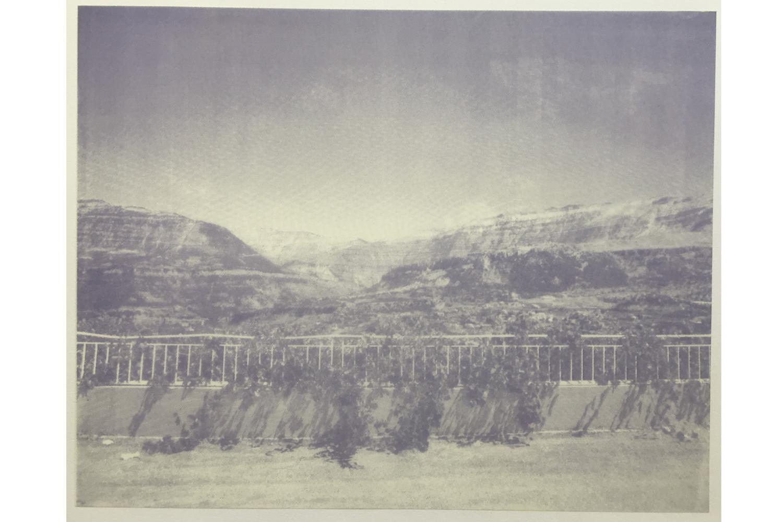 Familiar Mountains 17.55, Daniele Geandry, 2013. Screenprint on Mylar, 28 x 38.5 cm
